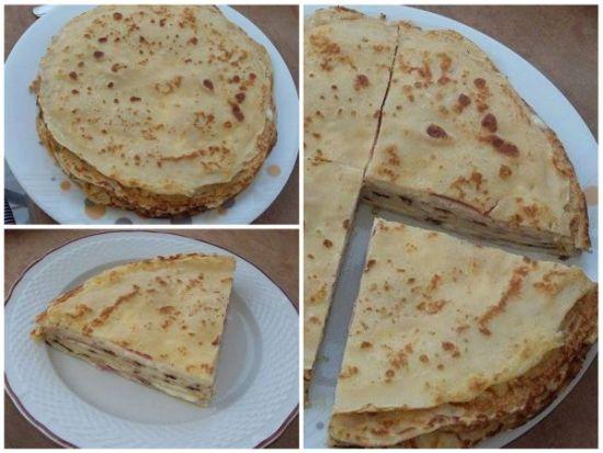 Peynirli ve Salamli Krep Tarifi